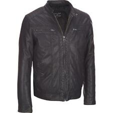 Wilsons Leather Mens Moto Faux-Leather Jacket