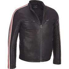 Wilsons Leather Mens Faux-Leather Cycle Jacket