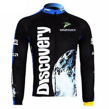 Discovery Man's Cycling Winter Jacket Long Sleeve Team Bike Jersey Tops Outdoor