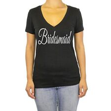 V Neck Bridesmaid Shirt S Women T Bride Tee Party Bachelorette Wedding Marriage