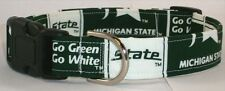 Michigan State Designer dog collar, martingale with leash set option