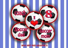 Soccer Ball Bottle Cap Images  - Soccer number IMAGES 1 Inch Circles  bottle cap