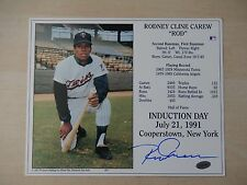 """Rod Carew Autographed 8"""" X 10"""" Photograph with COA - Hall Of Famer"""