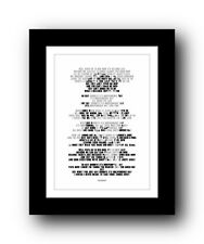 BRUCE SPRINGSTEEN Independence Day ❤ song lyric poster art typography Print #22
