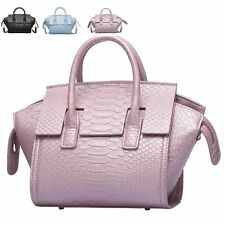Fashion Crocodile Grain Leather Women Handbags Small Tote Shoulder Crossbody Bag