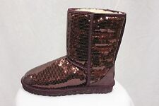UGG Australia Classic Short Women Sparkles Sequin Boots Uggs Port MSRP $190 NEW