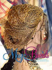 "Hand Braided Lace Front WIG Micro Braids color 27/1 blond 16"" LIGIA baby hair"