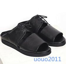 Men's Roma Leather Sandals Britpop Breathable Lace Up Open Toe Slippers Shoes SZ