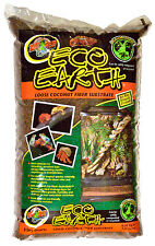 Zoo Med Eco Earth Loose Pack 8.8L Coir Gecko Spider Substrate