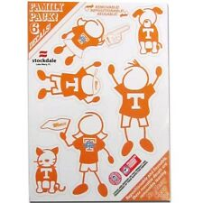 NCAA: Tennessee Volunteers  - Family Decals 6 Pack Auto Car Stickers