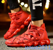Stylish Mens Korean Sneakers Lace Up Shoes Sport Running Walking Casual Shoes Sz