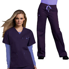 Med Couture Women's Scrub Set(Top Style #8403/Pant #8705)Fast Shipping!All Color