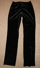 NEW Motionwear Black Velvet Velour Dance Jazz Gymnastics Pants 7152 Adult Small
