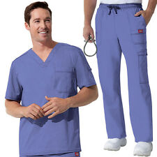 Dickies Men Gen Flex Youtility Scrub Set (81722 Top /81003Pant) All Colors&Sizes