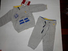 NWT- Boys 2 Piece Ferrari Sweat Suit-Gray/Blue/Yellow-MUST SEE-1107/0705