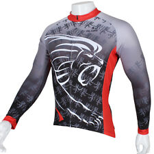 Lion Long Sleeve Cycling Jersey Men Bicycle Bike Sport Clothing Outdoor C295