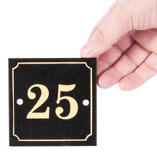 Black and Gold Granite House Number Sign (21 - 40)