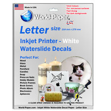 Waterslide Decal Paper for Inkjet Printer White or Clear