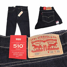 New Levis 510 Jeans Authentic Slim Skinny Regular Fit Mens Many Colors Sizes