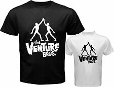 New Venture Bros Brothers Cartoon Animated Men's White Black T-Shirt Size S-3XL