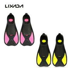 LIXADA TPR Snorkeling Foot Flipper Diving Fins Swimming Equipment w/ Bag W4I5