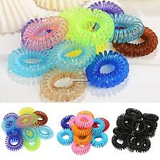 Fashion 12pcs Girl Rope Elastic Rubber Hair Ties Hair Bands Ponytail Holders EA