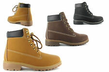 Womens High Top Boots Hiking Desert Trail Combat Ladies Ankle Work Lace Up