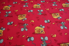 Red Mouse Trap Childrens Carpet Kids Animal Mouse Cheese Playroom Bedroom 4mt