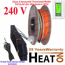 MULTIPLE 240V Electric Radiant Warm Floor Heating System + GFCI AUBE Thermostat