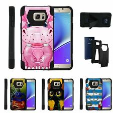 For Samsung Galaxy Note 5| Dual Bumper Case Kickstand Cartoons