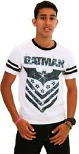 Adult Mens White DC Comics Hero Batman The Dark Knight Arrow Logo T-Shirt Tee