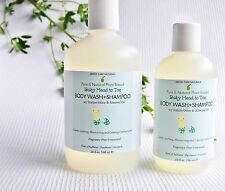 All Natural Organic Mild Baby Body Wash & Shampoo w/Olive-10 oz,Sulfate Free
