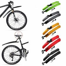 Pro MTB Mountain Bicycle Bike Cycling Front Rear Mud Guards Mudguard Fenders Set