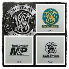Smith & Wesson Sew On Patch Iron Embroidered Badge Firearms Gun Hunters Weapons