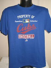 MLB Chicago Cubs Baseball T Shirt Mens Sizes Nwt Cooperstown Collection Majestic