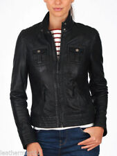 NEW Womens 100% Leather Lambskin Jacket Coat, Made to your Measurements - WJ126