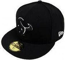 New Era Houston Texans Black White 59fifty Fitted Cap Baseball Limited Edition