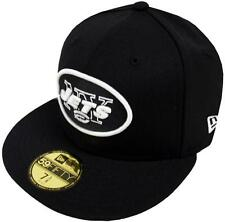 New Era NFL York Jets Black White 59fifty Fitted Cap Baseball Limited Edition