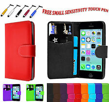 Magnetic PU Leather Side Open Book Flip Wallet Case Cover For Apple iPhone 5C UK