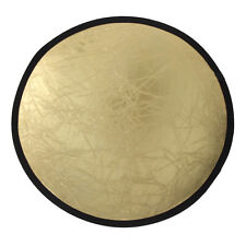 110/80/60cm 2in1 Mulit Collapsible Disc Photography Light Reflector Silver Gold