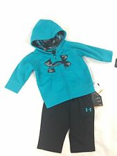 Under Armour Boy's Jacket & Pants Set Pacific Blue/Black NWT