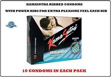KAMASURTA RIBBED CONDOM WITH POWER RIBS FOR EXTRA PLEASURE AND MORE EXCITEMENT