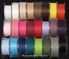MESH 38mm RIBBON/TRIM (You choose colour) Card Making/Wedding NEW TARA GREEN