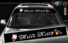 Hello Kitty Face Logo Car Truck Windshield Mirror Decal Sticker With Background