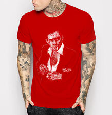 Johnny Cash Men's T-shirt Fashion Red Tee Shirt M L XL 2XL 3XL