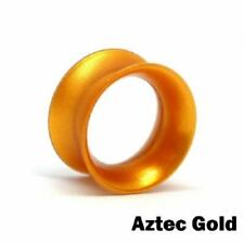 "6g - 1"" Aztec Gold Silicone Ear Skin by Kaos Softwear - Price Per 1"