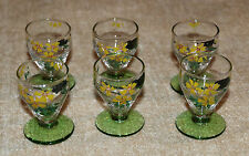 SET OF SIX VINTAGE HANDPAINTED LIQUOR/SHOT GLASSES
