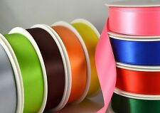 SATIN RIBBON 25mm DOUBLE SIDED 25 METRE FULL ROLL 40 COLOURS AVAILABLE