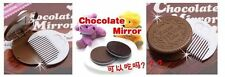 NEW SEALED - CUTE CHOCOLATE COOKIE COMPACT MIRROR + COMB - OREO MAKE UP MIRROR