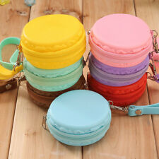 Women Purse Macaron Silicone Waterproof Wallet Pouch Coin Bag Cute Gift Funny